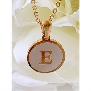 """E"" Alphabet Pendant Necklace."